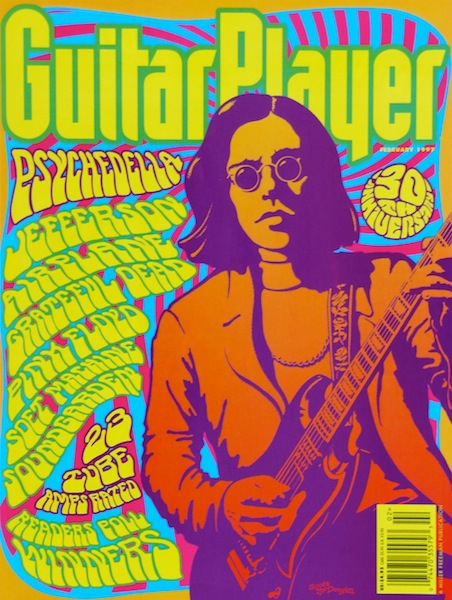 Guitar player psychedelia